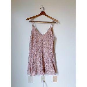 Zara Pink Lace Short Dress